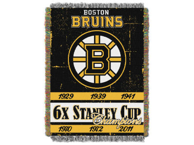 Boston Bruins The Northwest Company Commemorative Series Tapestry Throw Blanket