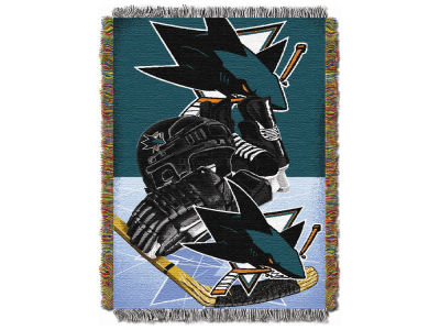 San Jose Sharks The Northwest Company NHL Home Ice Advantage Tapestry Throw Blanket