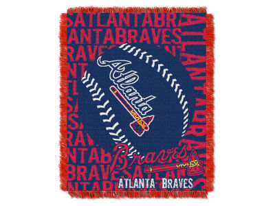 Atlanta Braves The Northwest Company Double Play Jaquard Blanket