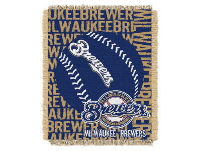 Milwaukee Brewers The Northwest Company Double Play Jaquard Blanket
