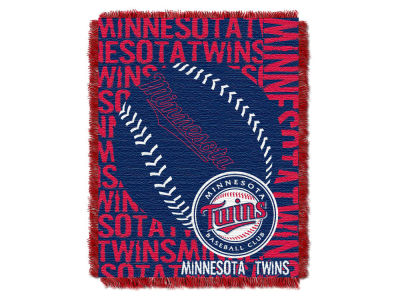 Minnesota Twins The Northwest Company Double Play Jaquard Blanket