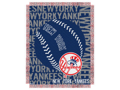 New York Yankees The Northwest Company Double Play Jaquard Blanket