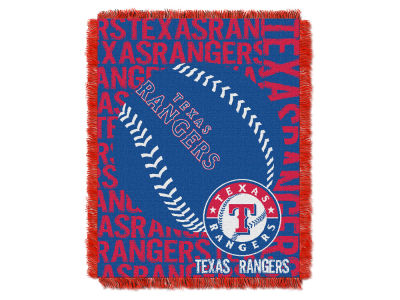 Texas Rangers The Northwest Company Double Play Jaquard Blanket