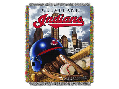 Cleveland Indians The Northwest Company Home Field Advantage Tapestry Throw Blanket