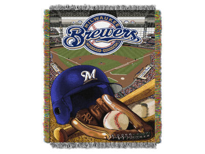 Milwaukee Brewers The Northwest Company Home Field Advantage Tapestry Throw Blanket