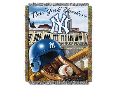 New York Yankees The Northwest Company Home Field Advantage Tapestry Throw Blanket