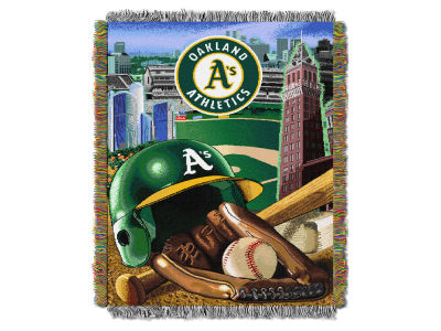 Oakland Athletics The Northwest Company Home Field Advantage Tapestry Throw Blanket