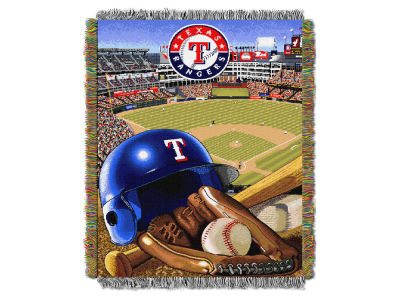 Texas Rangers The Northwest Company Home Field Advantage Tapestry Throw Blanket