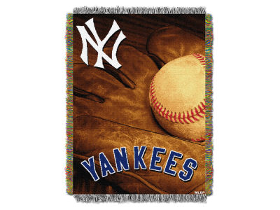 New York Yankees The Northwest Company Vintage Tapestry Throw Blanket