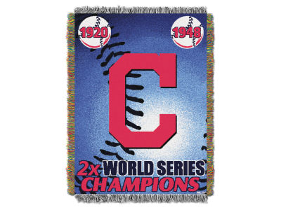 Cleveland Indians The Northwest Company Commemorative Series Tapestry Throw Blanket