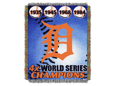 Detroit Tigers The Northwest Company Commemorative Series Tapestry Throw Blanket