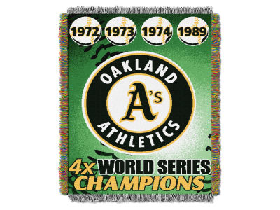 Oakland Athletics The Northwest Company Commemorative Series Tapestry Throw Blanket