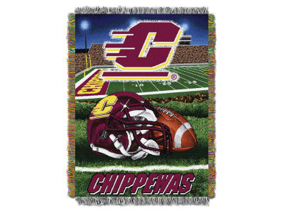 Central Michigan Chippewas The Northwest Company Home Field Advantage Tapestry Throw Blanket