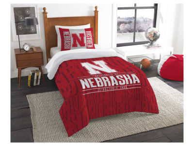 Nebraska Cornhuskers The Northwest Company Modern Take Twin Comforter Set