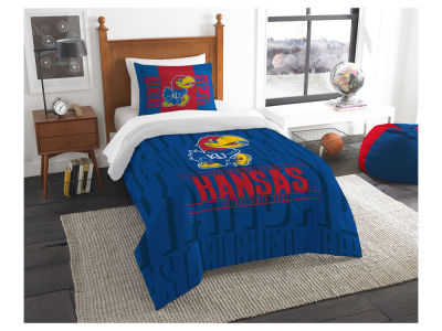 Kansas Jayhawks The Northwest Company Modern Take Twin Comforter Set