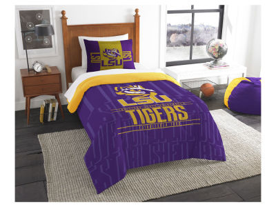 LSU Tigers The Northwest Company Modern Take Twin Comforter Set
