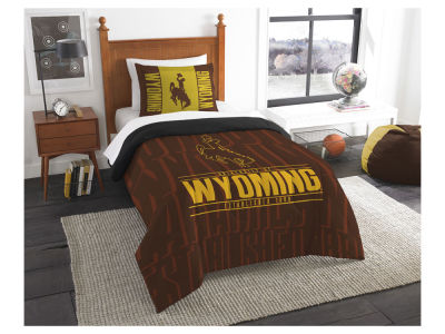Wyoming Cowboys The Northwest Company Modern Take Twin Comforter Set