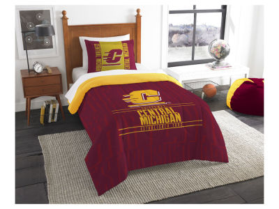 Central Michigan Chippewas The Northwest Company Modern Take Twin Comforter Set