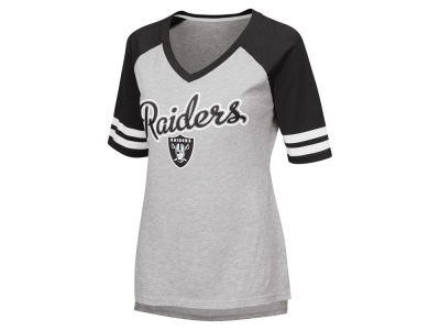 Oakland Raiders G-III Sports NFL Women's Goal Line Raglan T-shirt
