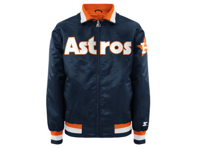 Houston Astros MLB Men's Captain Coop Starter Satin Jacket