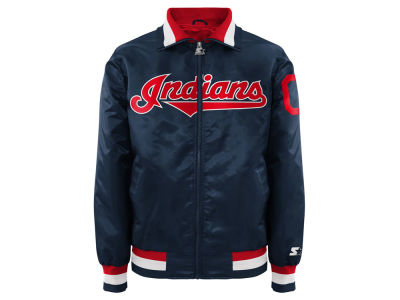 Cleveland Indians MLB Men's Captain Starter Satin Jacket II