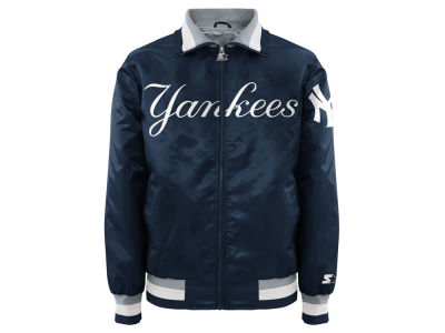 New York Yankees MLB Men's Captain Starter Satin Jacket II