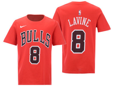 Chicago Bulls Zach LaVine Nike NBA Youth Icon Name and Number T-Shirt
