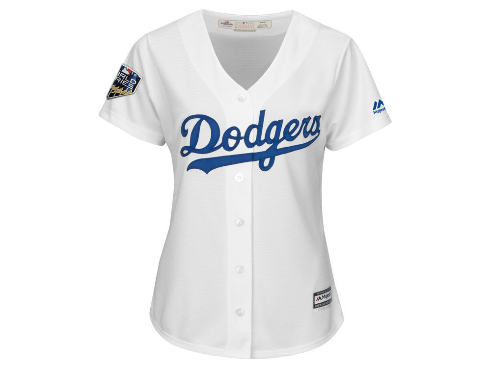 Los Angeles Dodgers Majestic 2018 MLB Women s World Series Patch Jersey  c1db3dcf44b