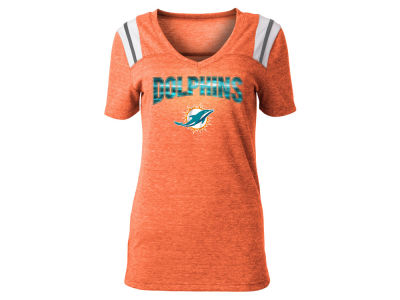 Miami Dolphins 5th   Ocean NFL Women s Shoulder Stripe Foil T-Shirt a897e670f