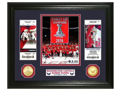Washington Capitals Highland Mint NFL Banner Raising Bronze Coin Photo Mint