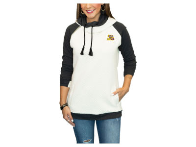 LSU Tigers Gameday Couture NCAA Women's Quilted Hooded Sweatshirt
