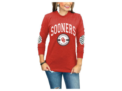 Oklahoma Sooners Gameday Couture NCAA Women's Elbow Patch Long Sleeve T-Shirt