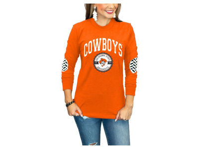 Oklahoma State Cowboys Gameday Couture NCAA Women's Elbow Patch Long Sleeve T-Shirt