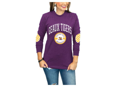 LSU Tigers Gameday Couture NCAA Women's Elbow Patch Long Sleeve T-Shirt