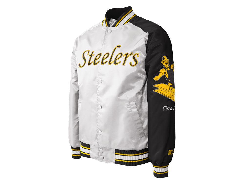 Pittsburgh Steelers Starter NFL Men s Dugout Championship Satin Jacket  eb63b9c6c