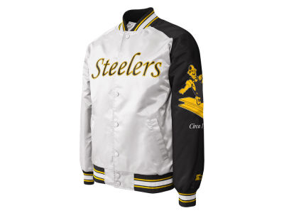 Pittsburgh Steelers Starter NFL Men s Dugout Championship Satin Jacket a1a884df99