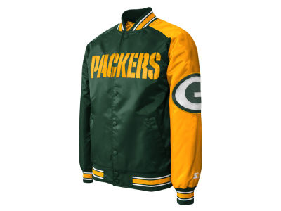 Green Bay Packers NFL Men's Starter Dugout Playoff Satin Jacket