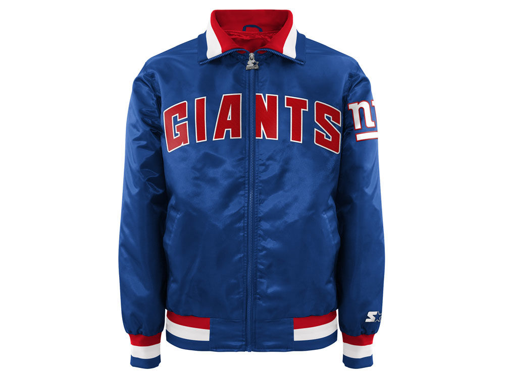 036121d0c New York Giants Starter NFL Men s Captain II Satin Jacket