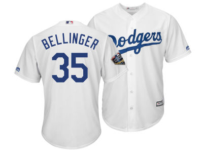 Los Angeles Dodgers Cody Bellinger 2018 MLB Men's World Series Patch Player Cool Base Jersey