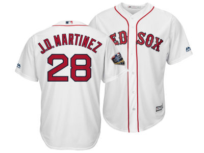 Boston Red Sox J. D. Martinez 2018 MLB Men's World Series Patch Player Cool Base Jersey