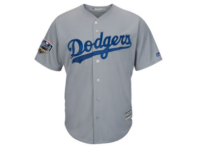 Los Angeles Dodgers 2018 MLB Men's World Series Patch Replica Cool Base Jersey