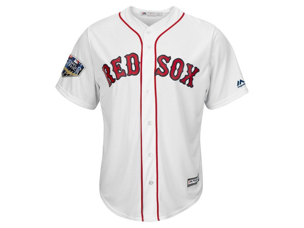 Boston Red Sox Majestic 2018 MLB Men s World Series Patch Replica Cool Base  Jersey  e4ed5916265