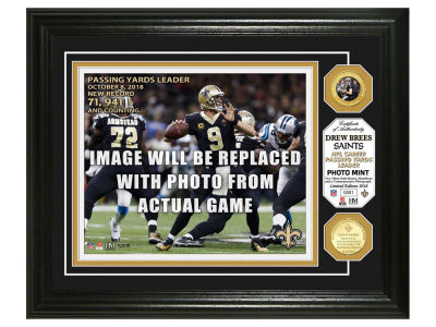 New Orleans Saints Drew Brees Highland Mint NBA Bronze Coin Photo Mint