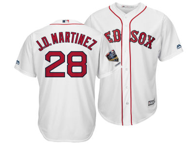 Boston Red Sox J. D. Martinez Majestic 2018 MLB Men's World Series Champ Patch Player Cool Base Jersey