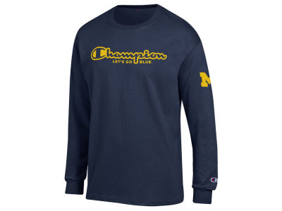 Michigan Wolverines Champion NCAA Men's Co-Branded Long Sleeve T-Shirt