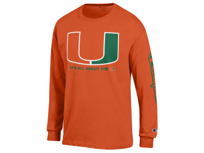 Miami Hurricanes Champion NCAA Men's Co-Branded Long Sleeve T-Shirt