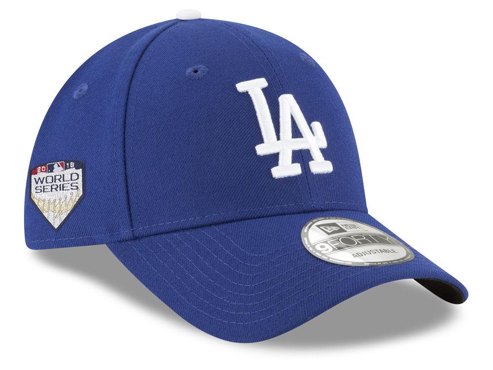8b4ecca86da Los Angeles Dodgers New Era 2018 MLB World Series Patch 9FORTY Cap ...