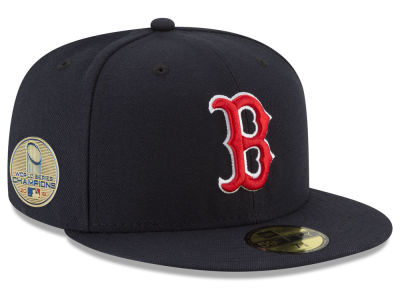 Boston Red Sox New Era 2018 MLB World Series Champ Patch 59FIFTY Cap 6eb6abc2f8d