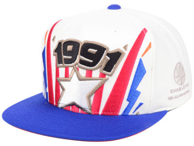 NBA Logo Mitchell & Ness All Star Game 91 Ticket Brush Snapback Cap