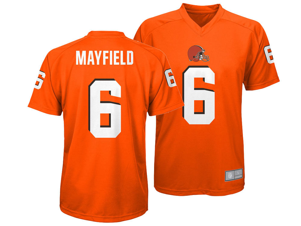 a0c7b9c48 Cleveland Browns Baker Mayfield Outerstuff NFL Kids Jersey T-shirt ...